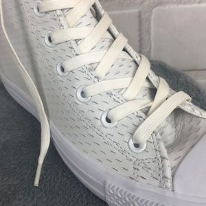 Converse Shoes - Converse high top White leather slit design